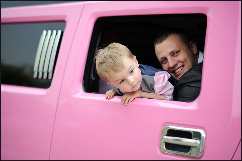 rožinis limuzinas