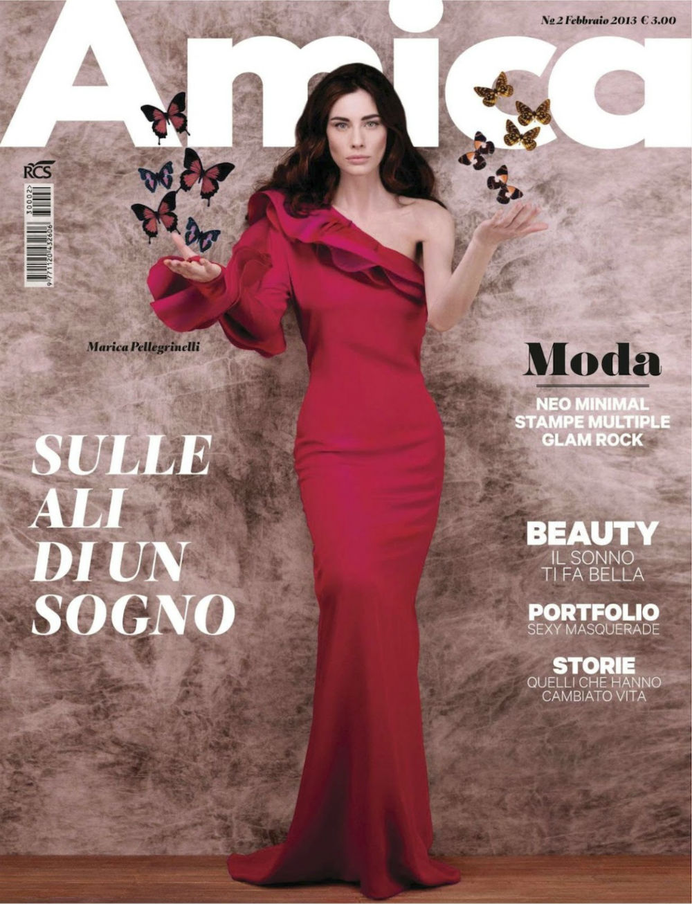 Marica Pellegrinell on the cover of Amica