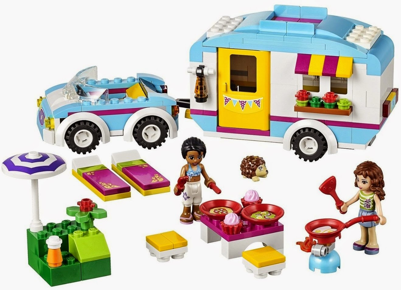 Heartlake times summer 2014 lego friends sets - Lego brick caravan a record built piece by piece ...