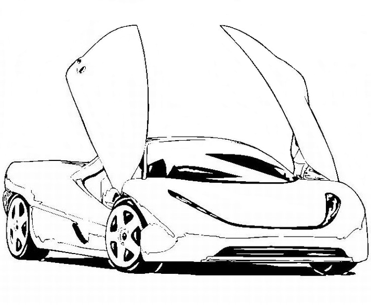 printabl sportcar coloring pages - photo#1