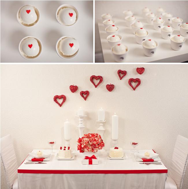 Colores para la mesa blanco y rojo for Decoracion en rojo y blanco