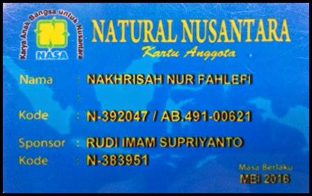 Kartu ID Distributor PT Nasa