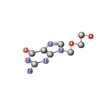 Gambar Aciclovir 3D