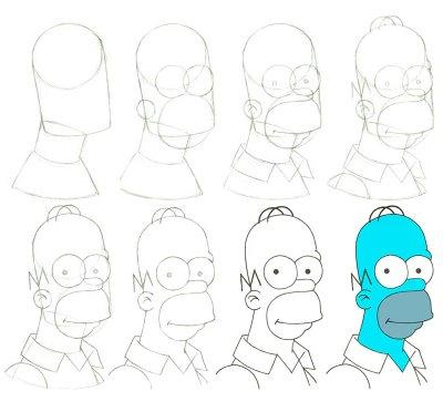 3 Diferentes formas de dibujar a Homero Simpson