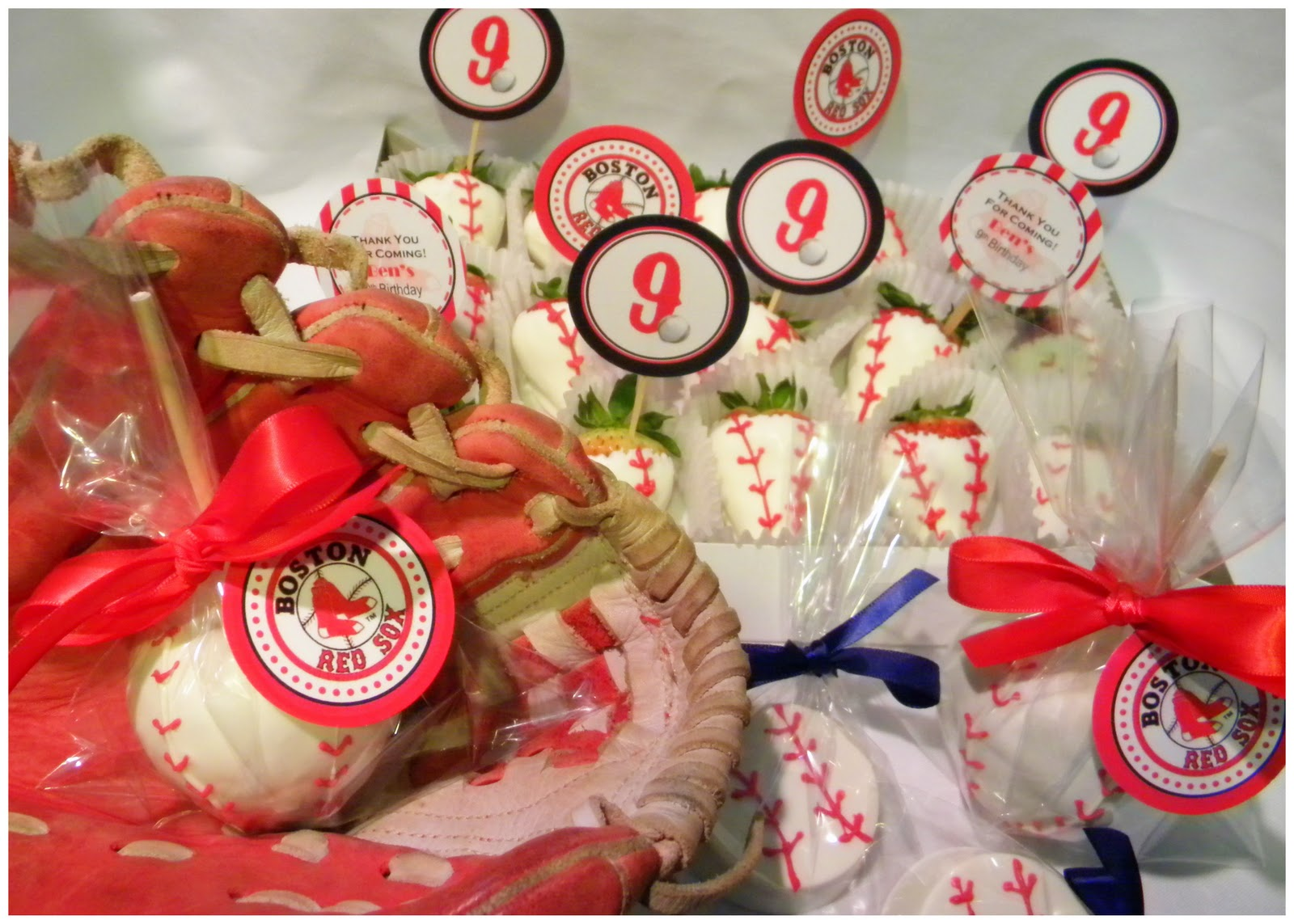 Mkr Creations Boston Red Sox Favors
