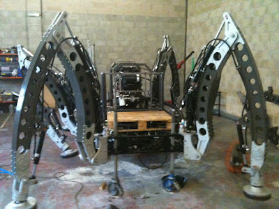 Mantis Hexapod Build Diary September 2011