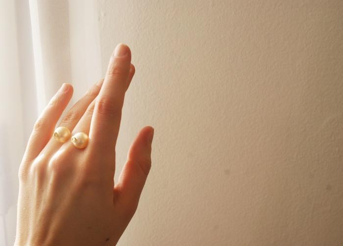 pearl ring diy perle anello faidate
