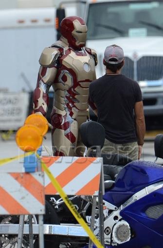 Iron Man 3: nuevas fotos de la Mark XLVII