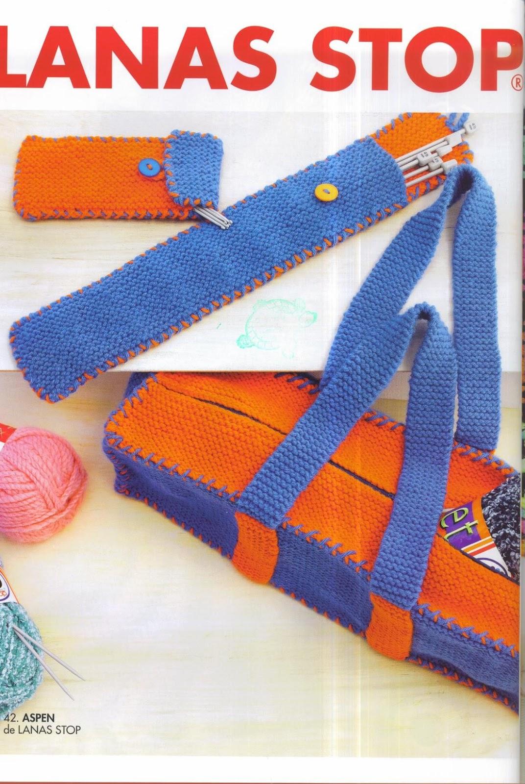 Patrones asgaya bolsa para labores y fundas para agujas - Bolsa para guardar agujas de tejer ...