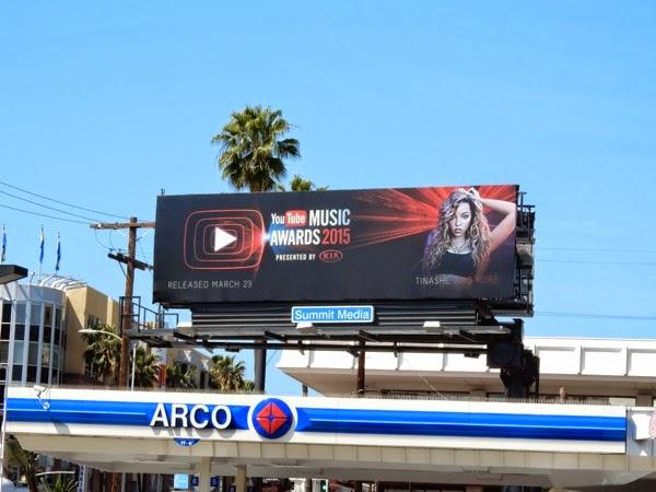 Tinashe YouTube Music Awards 2015 billboard