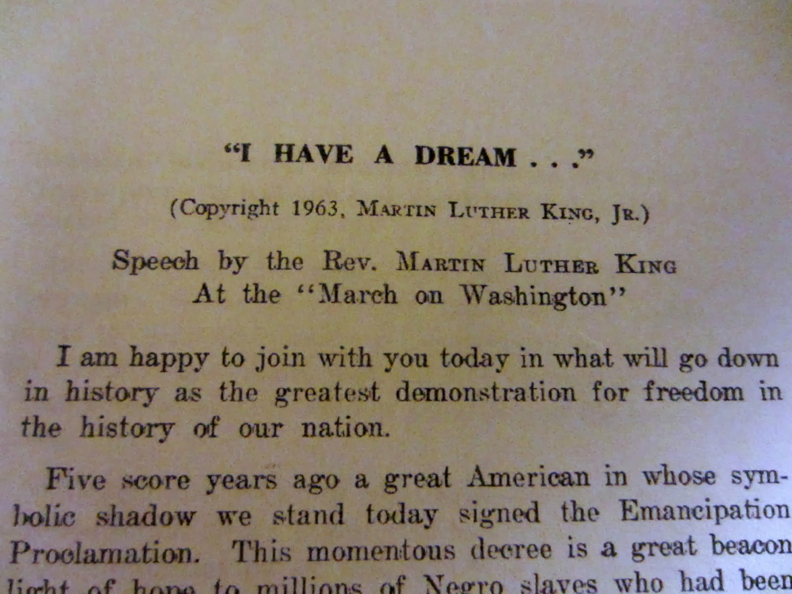 mind the gap a z memories and martin luther king i came across the transcript of martin luther king s speech i have a dream when i was sorting through some papers at home