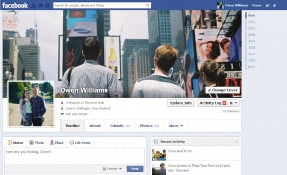 facebook timeline ritardo news