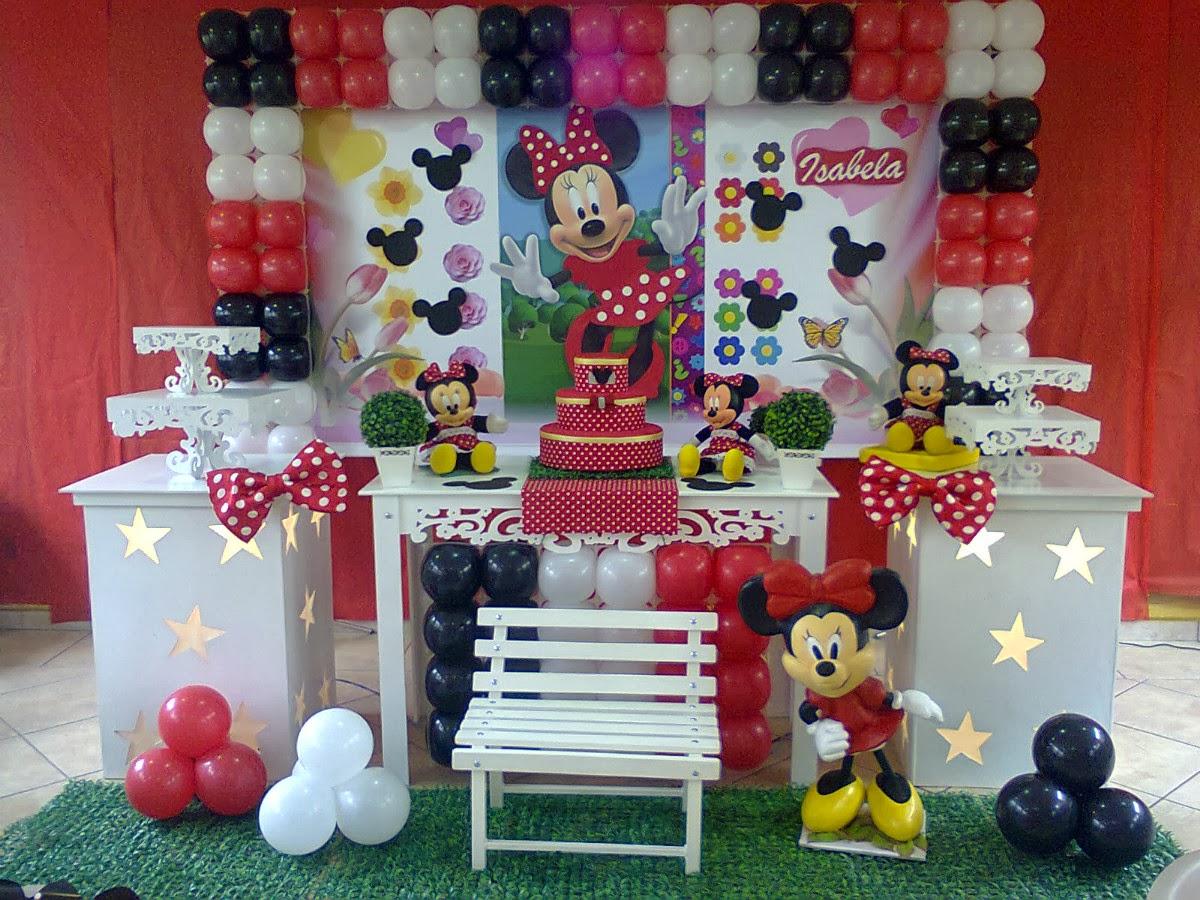 Festa & Magia Decoração e Personalizados Festa minnie vermelha