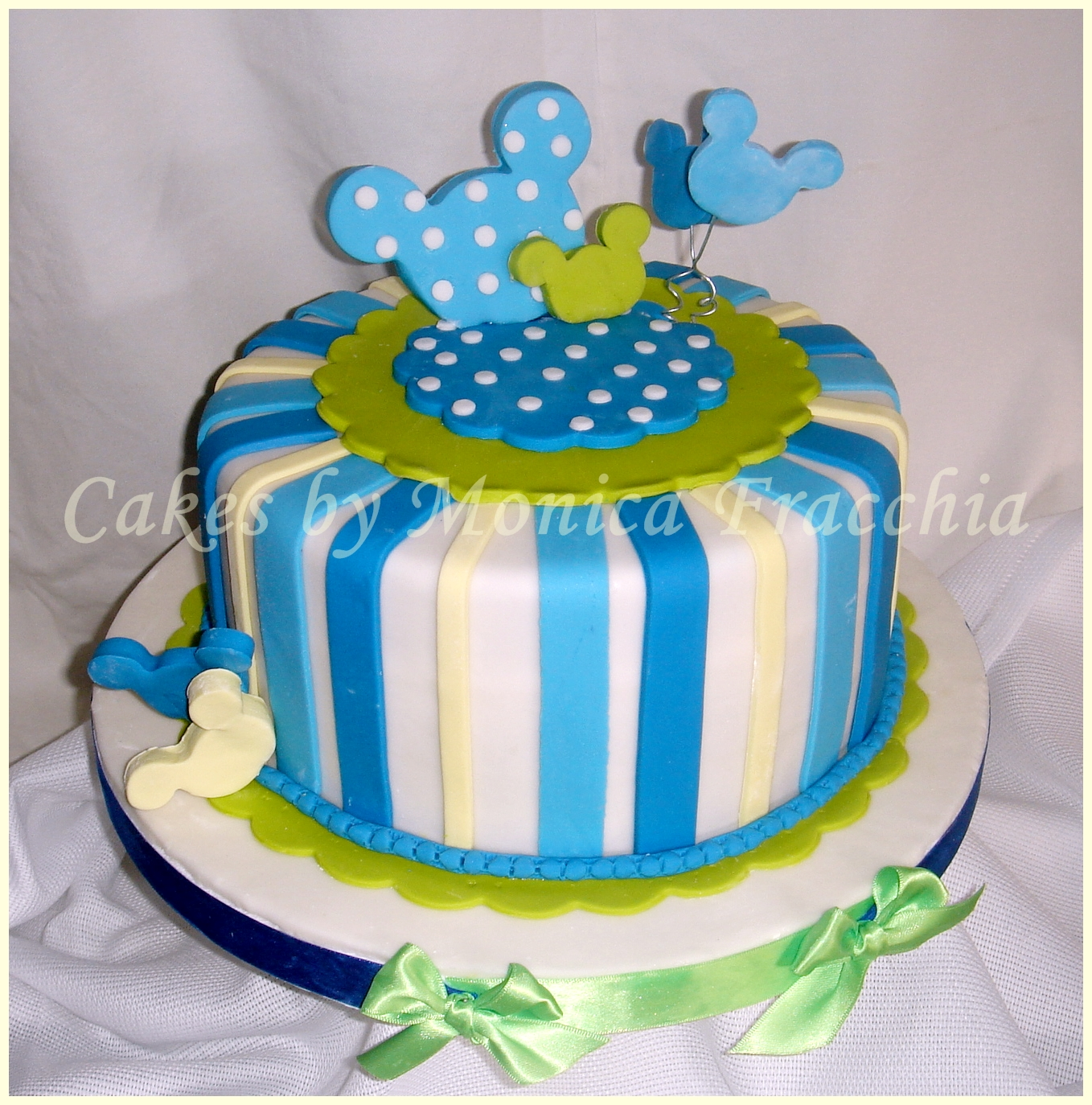 TORTA DECORADA MICKEY MOUSE PARA BEBE | TORTAS CAKES BY MONICA ...