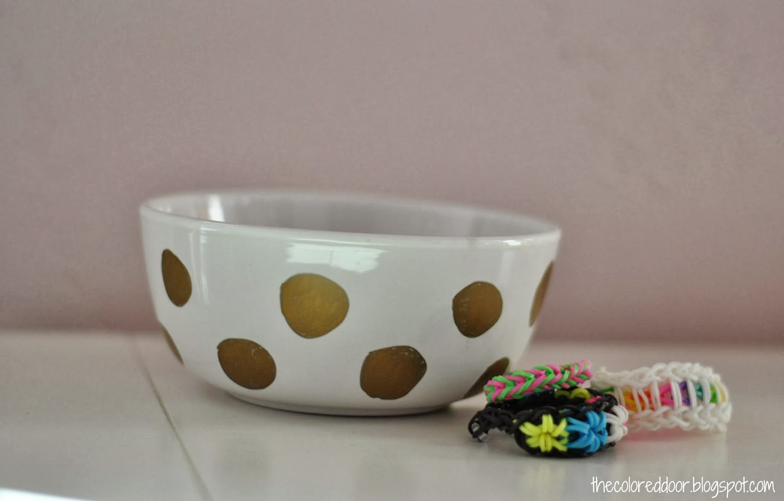 Easy polka dot bowls - the colored door