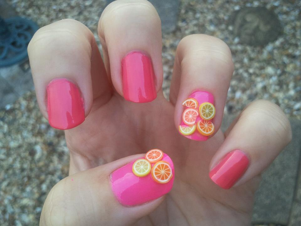 Amelia's Allsorts: Nail Art: Fruity Fimo Fun