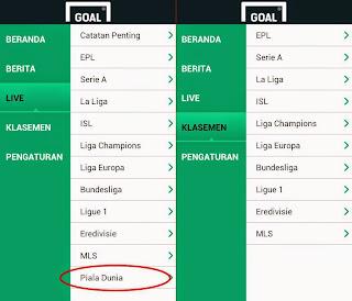 Nonton Video Gol Hasil Pertandingan Piala DUnia