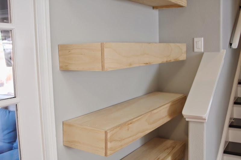 Tutorial DIY Floating Shelves