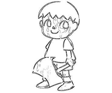 #2 Villager Coloring Page
