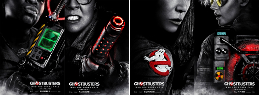 New posters are released for 2016's 'Ghostbusters' reboot.