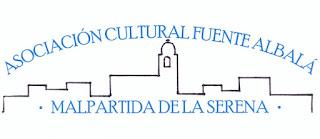 """Logotipo de la Asociación Cultural """"Fuente Albalá"""" de Malpartida de la Serena"""