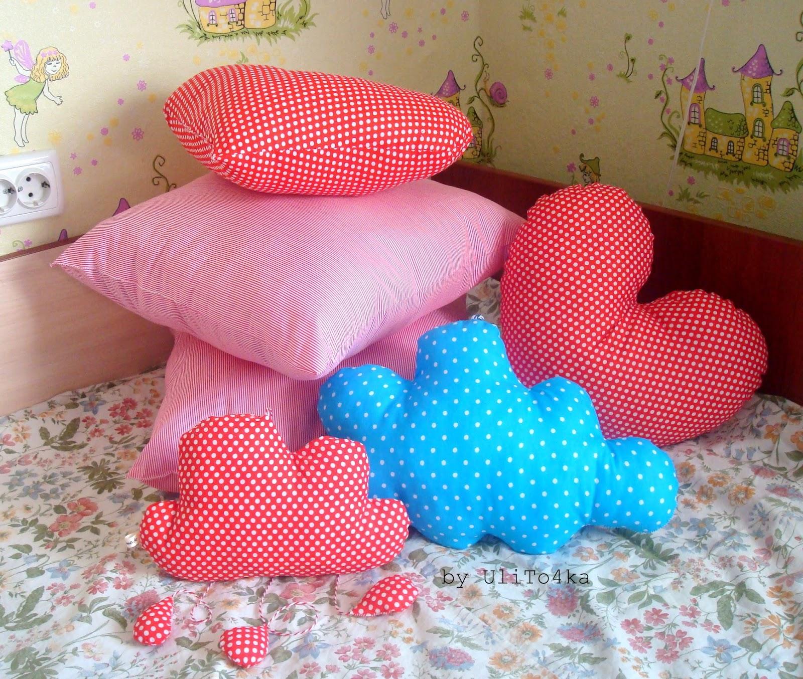 Сшить подушку облачко для детской 70