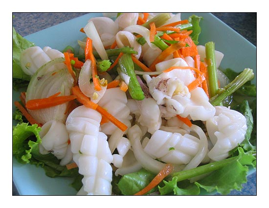 Thai calamari recipe -Spicy calamari salad