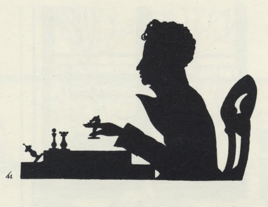 silhouette of male playing chess