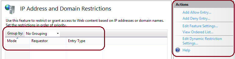 configuring ip address restrictions Dynamic ip restriction proxy mode dynamic ip restrictions works by looking at incoming client ip addresses and allowing the server administrator to restrict either the maximum number of concurrent connections for information on how to configure and use dynamic ip restrictions.