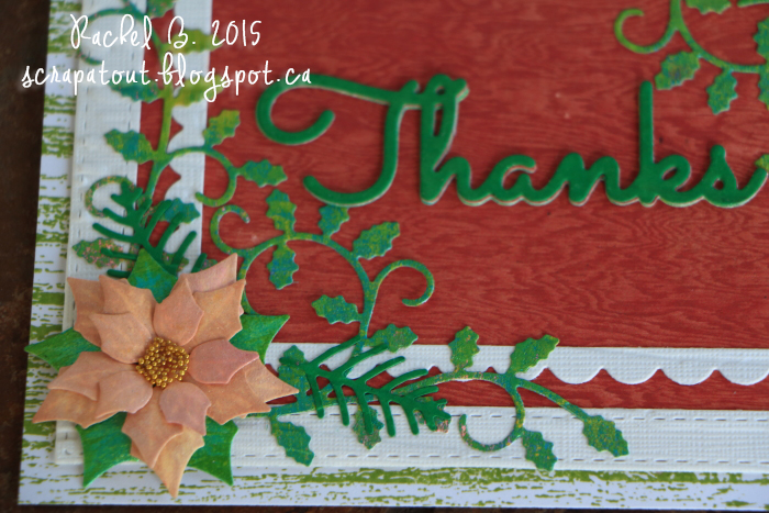 Handmade card, Impression Obsession, Poinsettia, Thanks