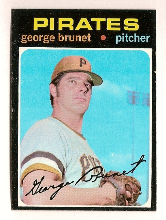 George Brunet 1971 baseball card