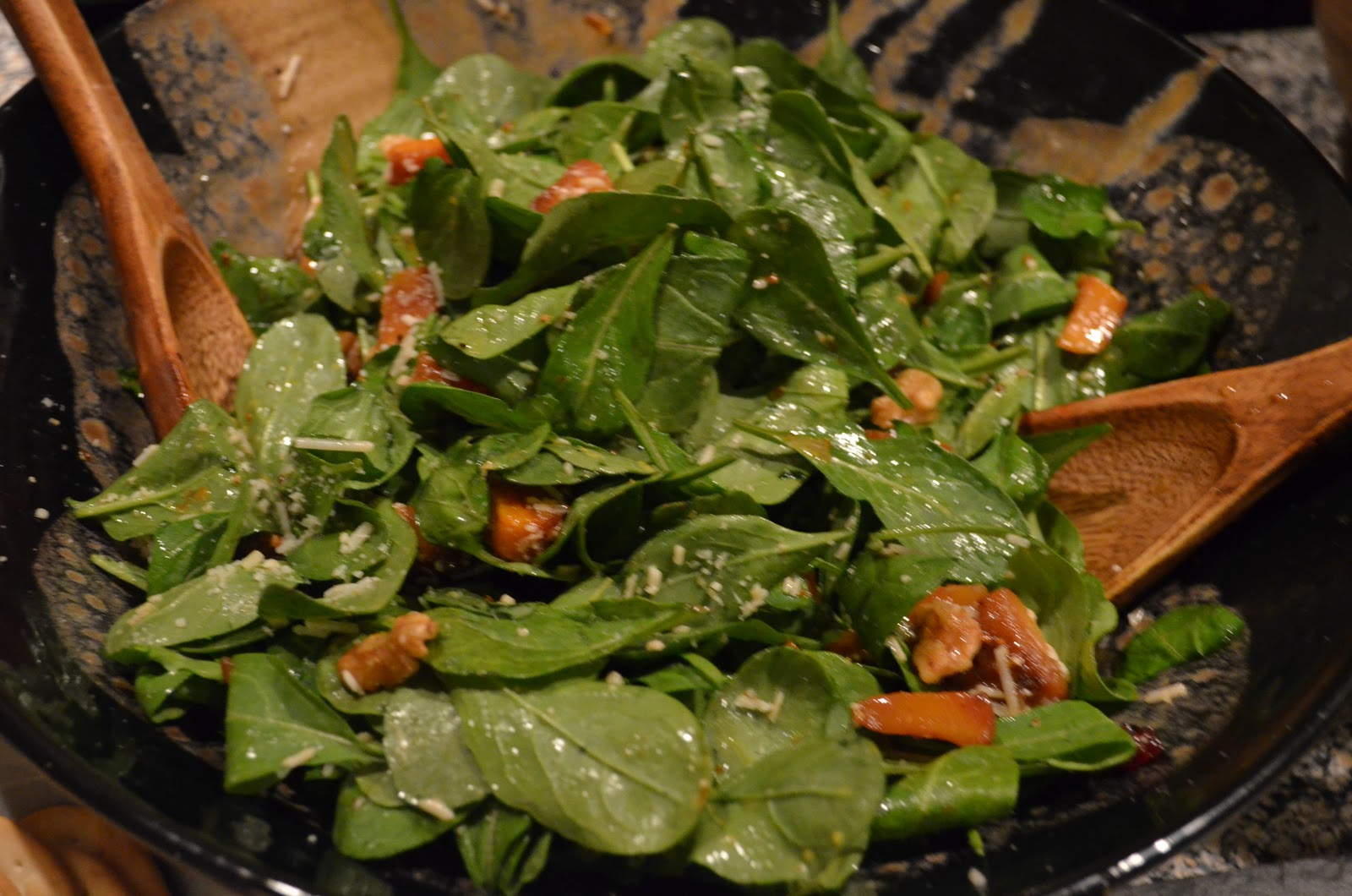 ... LA: Cook: Roasted Butternut Squash Salad with Warm Cider Vinaigrette