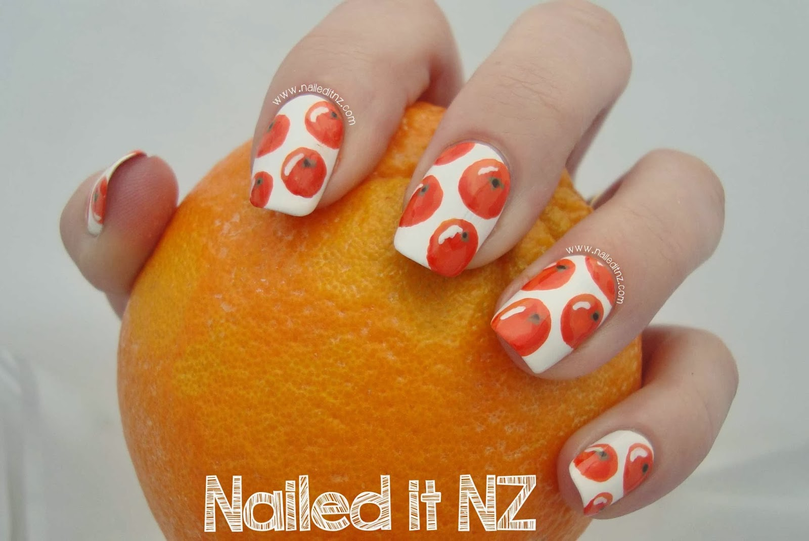 Orange Nail Art | Trip Down Nail Art Lane Day 3