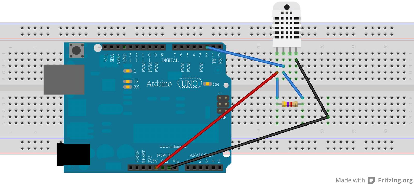 Arduino筆記 :dht 溫濕度感應偵測與lcd顯示 天花板隨記