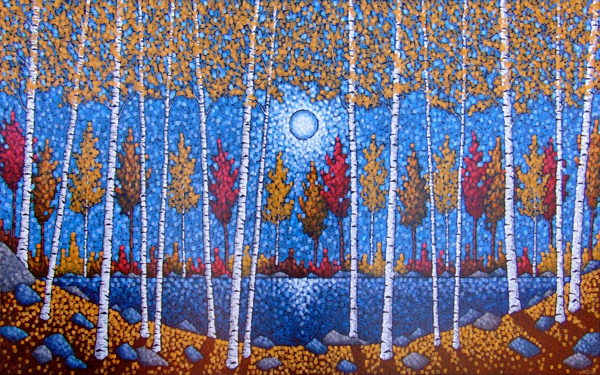 The Great Northland, Aaron Kloss, Birch, Minnesota, Art, Painting, Commission