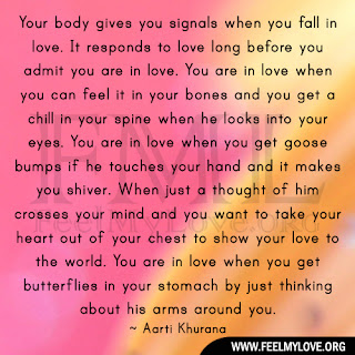 Your body gives you signals when you fall in love