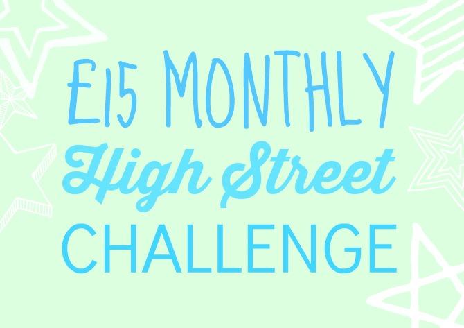£15 high street challenge April