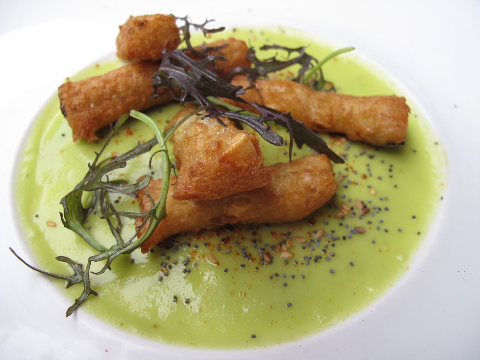 Fish nuggets with lemon, almond & avocado crème fraiche (my personal ...
