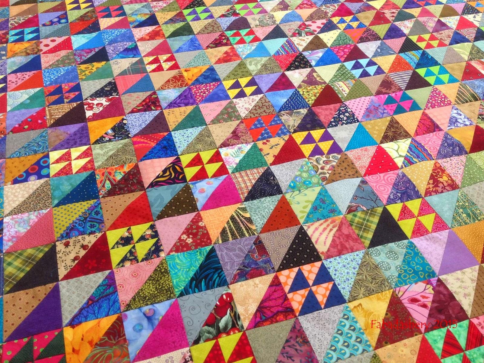 Scrap Triangle Quilt