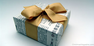 gift wrapping newspaper