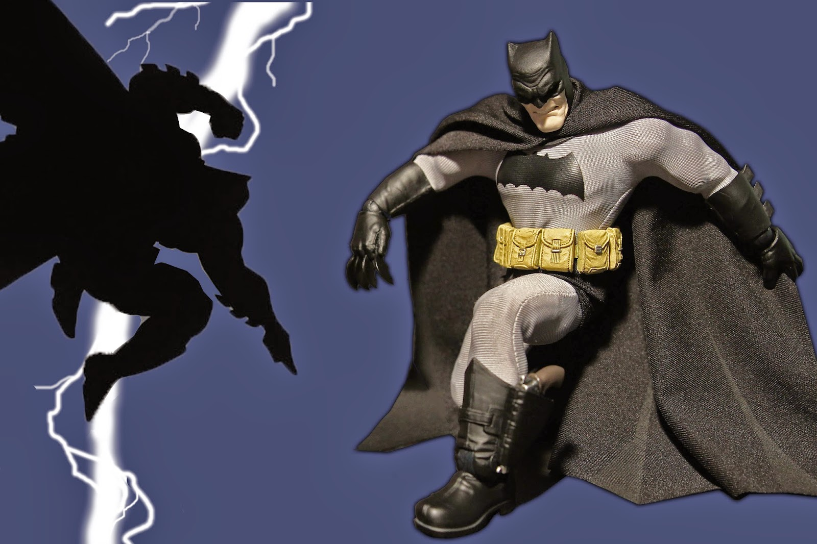 "Mezco Reveals The One:12 Collective  New York- (July 22nd, 2014)- Mezco Toyz today announced The One:12 Collective, a new line of high end 6″ scale collectable figures.  Redesigning the 6″ scale figure category by combining posable action figures with real cloth outfitting, in a similar fashion to the 1/6th scale and larger collectables. Mezco's One:12 Collective line will present a multitude of different characters from numerous brands.  Combining superior sculpting with an abundance of articulation, the One:12 Collective figures feature over 32 points of articulation, capable of over 40,000 possible poses: combining form and function to create a remarkably realistic aesthetic. Digitally sculpted by the industry's finest artists and painstakingly engineered by Mezco's production team is a state of the art collectable that holds up to real play. The costuming is meticulously tailored and uses specially selected materials to create the highest standard of outfitting and drapery at the 6″ scale. Fabrication, color, drapery, comparative scale and mobility are all closely considered to bring the finest attire achievable.  Every One:12 Collective figure will include a display base as well as a multitude of accessories. These accessories are designed to have a ""real world"" look to further make the figure seem like it has truly come to life. These accessories, also precisely crafted, range from changeable parts to character specific weapons, equipment and props.  Currently planned for the One:12 Collective are characters from The DC Universe, Judge Dredd, Classic Universal Monsters, and some other surprises to be announced in the future.  Mezco President, Mez Markowitz declared ""We are all very excited with the One:12 Collective line. I think we are offering a fantastic product that both satisfies the customers desire for articulation as well as the ability to hide it all in a extremely realistic way. Another great aspect to the line is that we are striving to present high quality product that is in line with 1/6th scale (12″ figure) collectables while taking up far less display space and at a much more reasonable price point. Our Dark Knight Returns Batman figure is really a fantastic piece and we cannot wait to show what is up next. Mezco plans on releasing several items a year from this line and it is a long term initiative for our team, really a dream come true for all of us here.""  The One:12 Collective ""The Dark Knight Returns"" Batman figure is set to be publicly revealed at San Diego Comic Con at Mezco booth # 3445 and shipping to customers in Fall 2014."