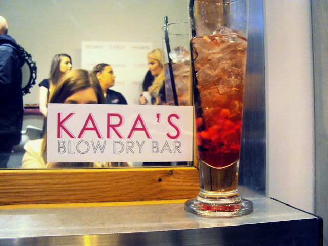 Kara's blow dry bar and drink