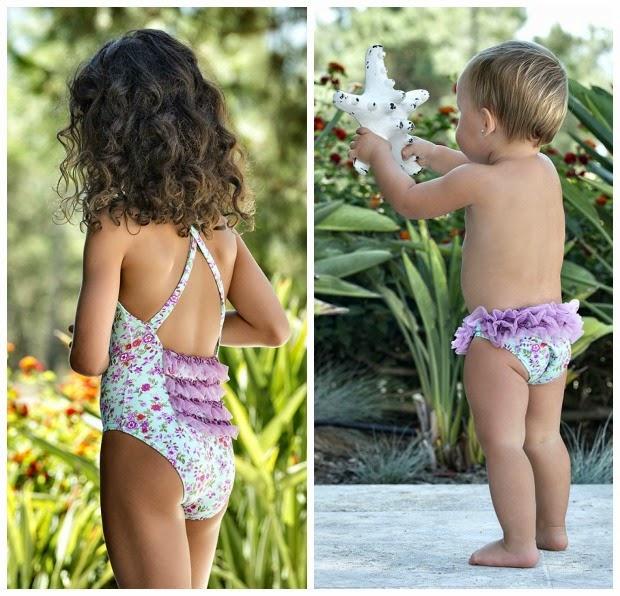 Maricruz moda infantil-bañador niña y culetin bebe