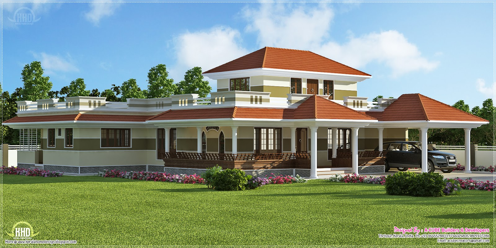 3 Bedroom Kerala Style Villa Exterior Home Kerala Plans