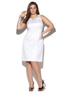 modelo de vestido branco até o joelho - dicas e fotos