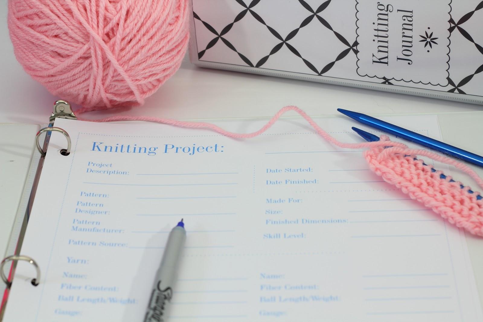 Knitting Project Journal : Big b organization knitting journal