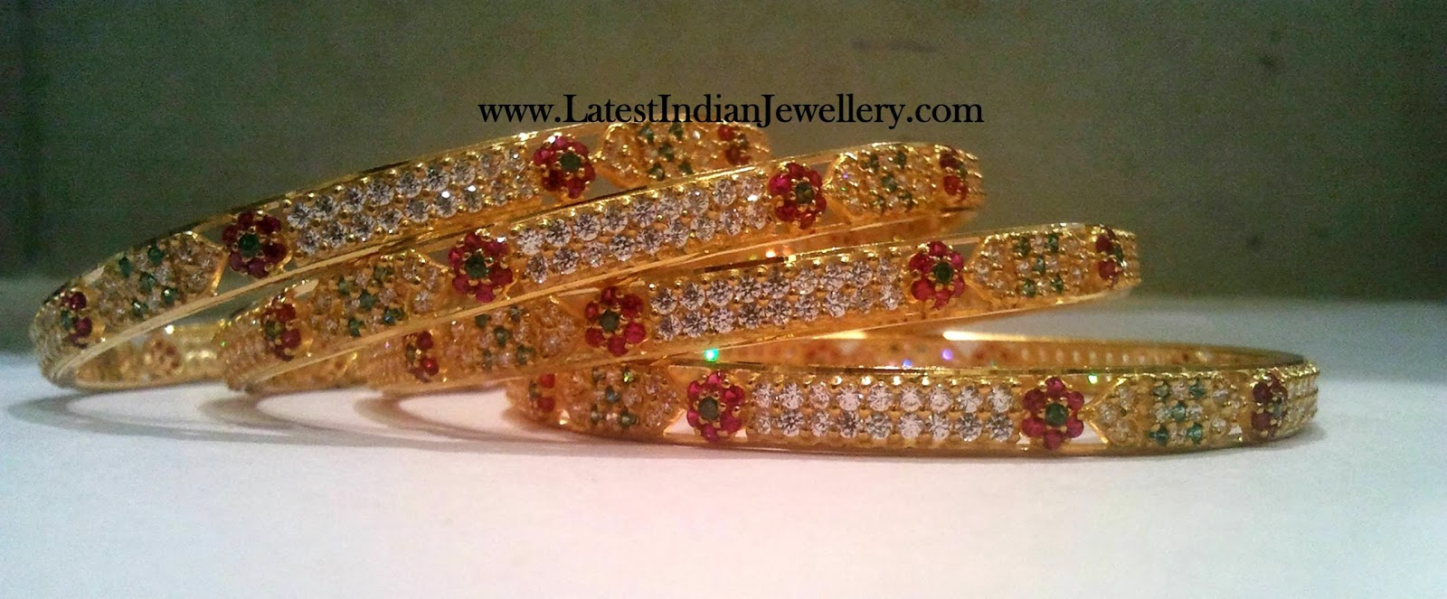 Latest CZ Bangles Set