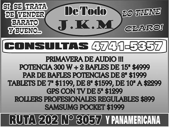 """Visita el nuevo """"DE TODO JKM JK Mas..."""" LA JUGUETERÍA MAS GRANDE DE DON TORCUATO"""