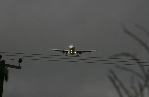 airplane and electric cable fun