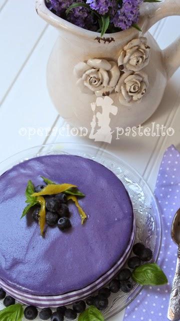 tarta-mousse-limón-arándanos